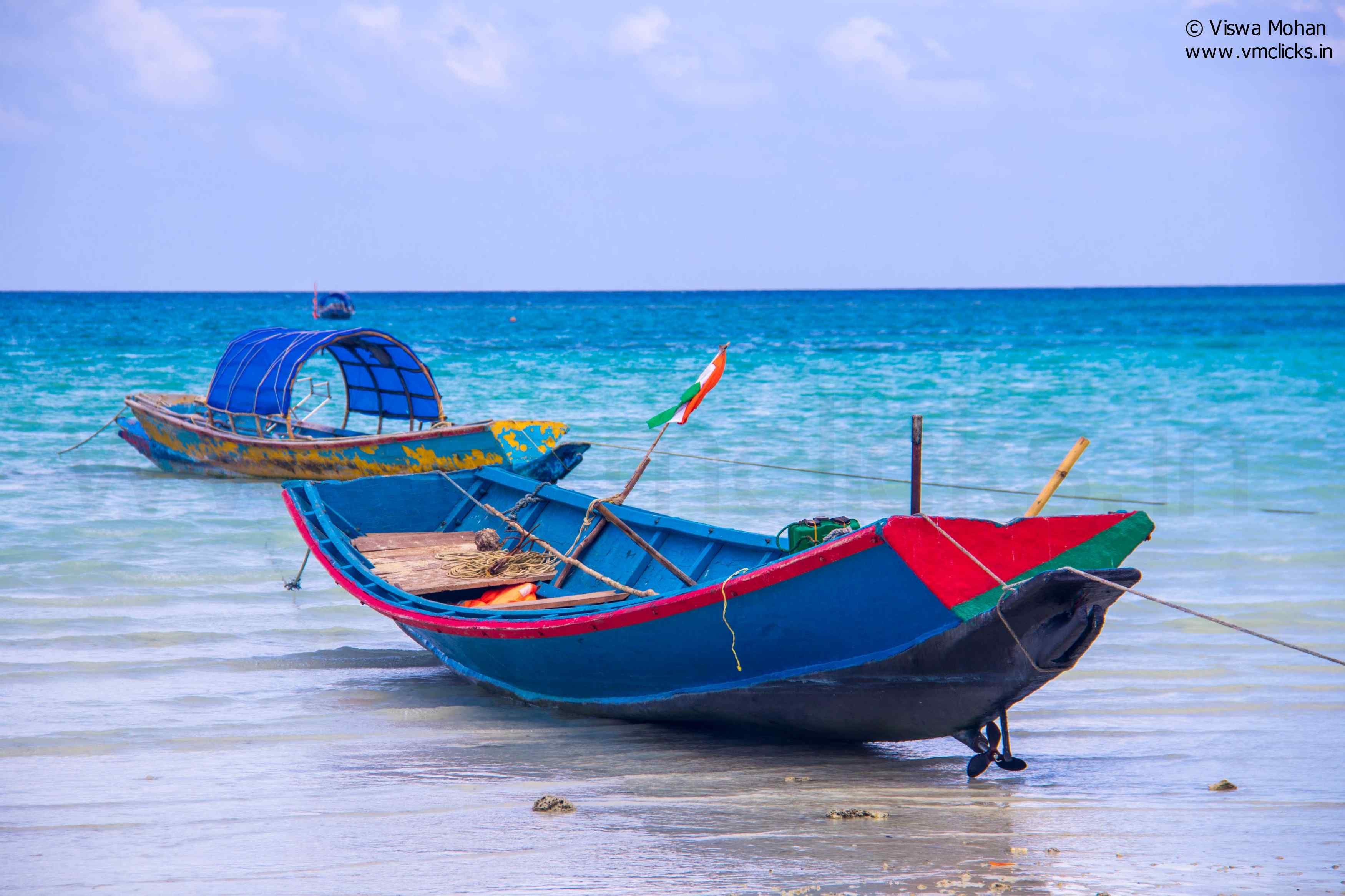 Local Boats At Havelock Islands
