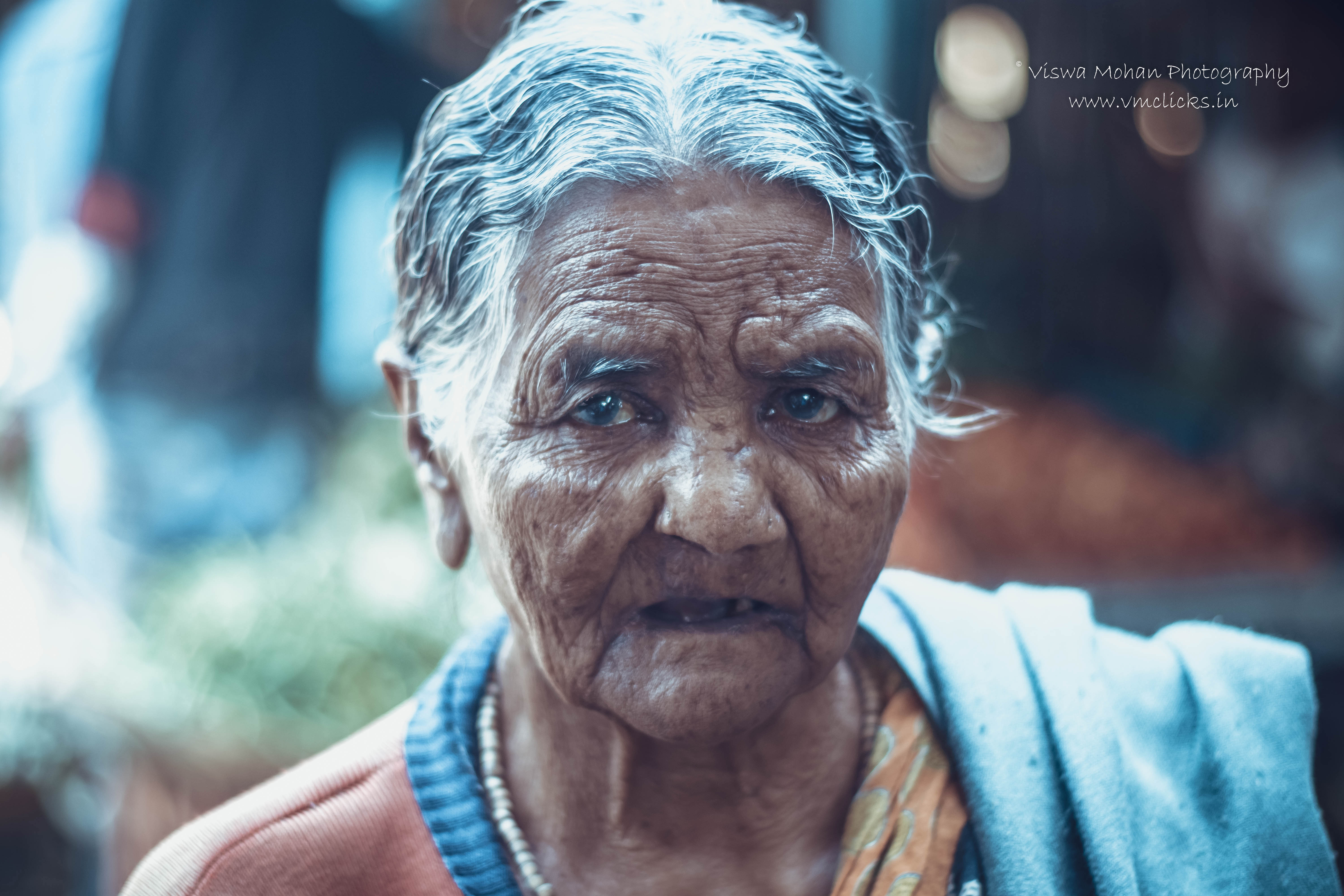 Indian elderly woman