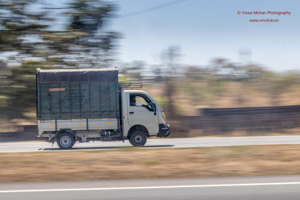 vehicles with panning photography