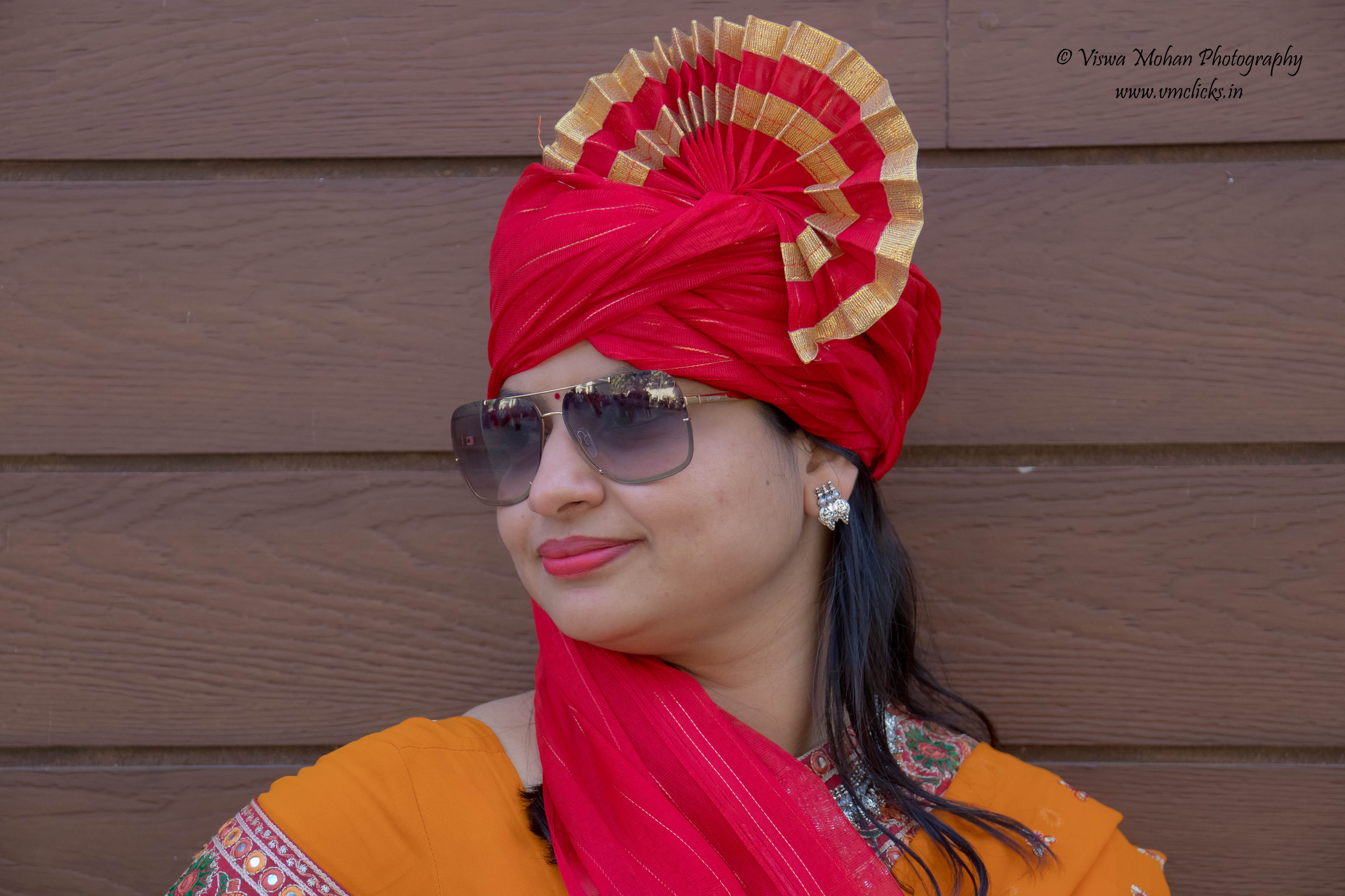 Indian Lady posing after Bike Rally 2019