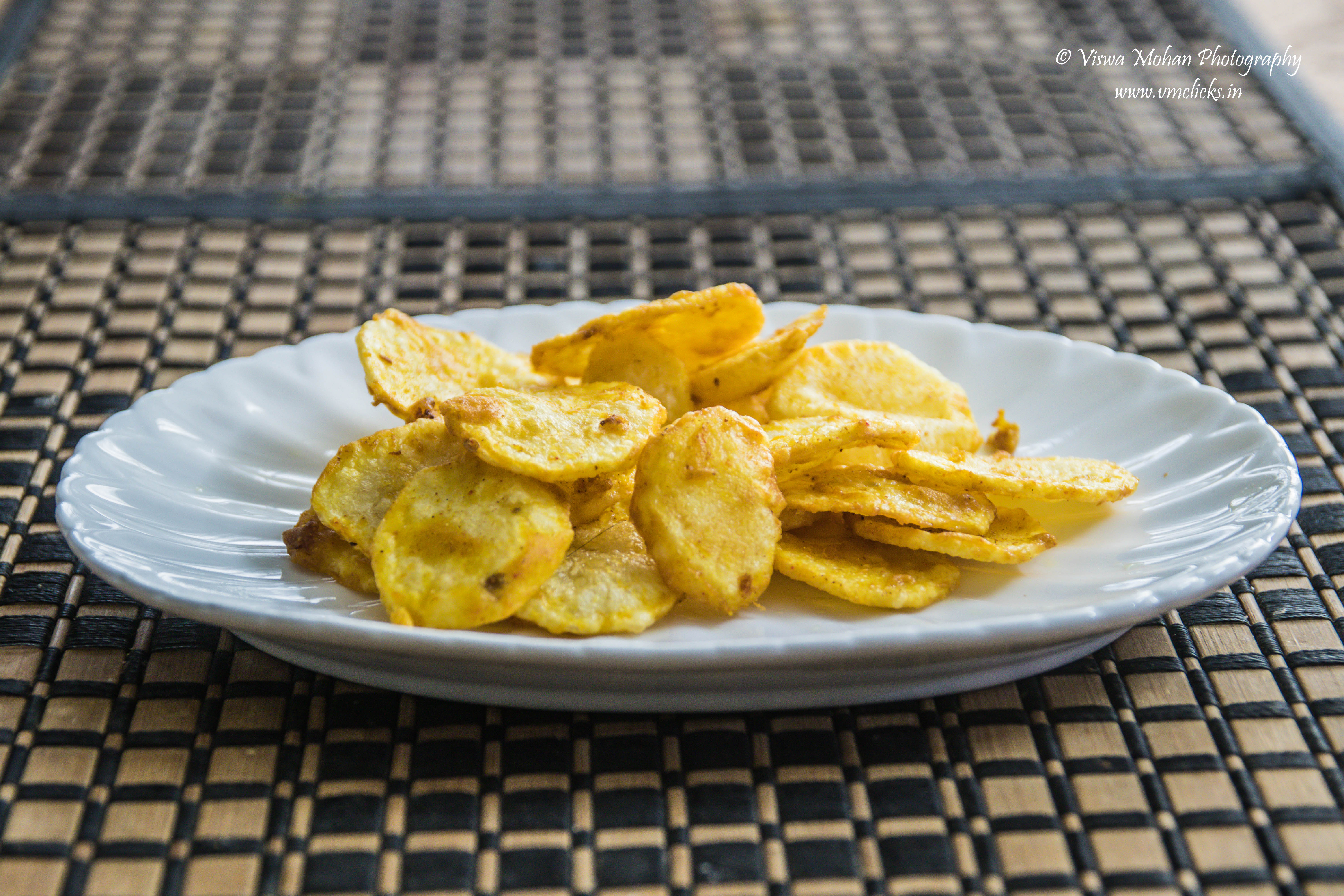 Potato chips indian style home made